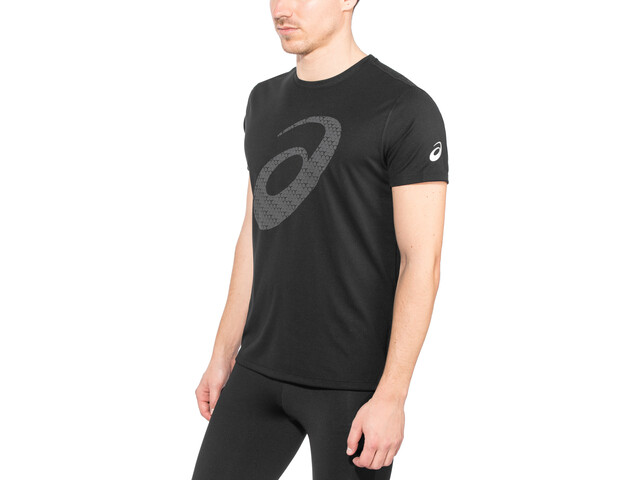 asics Silver Graphic Top Herrer, performance black